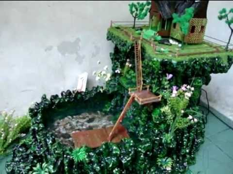 Miniatur Air Terjun Adat MinangFountain Waterfall