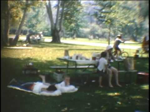 Family picnic in the park - 1965 or 1966