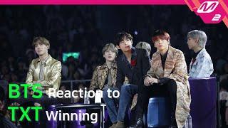 [Reaction Cam] BTS(방탄소년단) Reaction to TXT's Winning(투모로우바이투게더) l 2019MAMA x M2