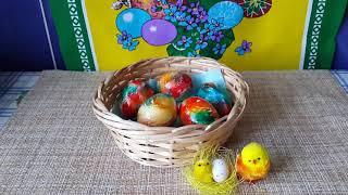 Как покрасить яйца на Пасху//быстрый способ