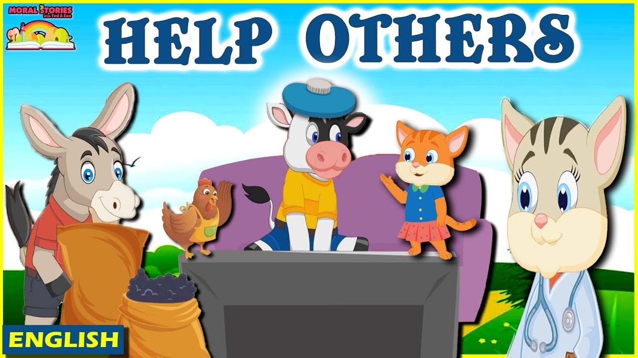 Help Others | Kids Stories in English | Moral Stories For Kids | English Moral Stories Ted And Zoe