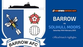 2014/15: BARROW v Solihull Moors