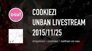 [osu!] Cookiezi Unban Live Stream FULL (25/11/2015)