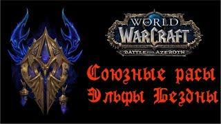 WoW обзор. Субрасы БфА. Эльфы Бездны/Void Elf - новая союзная раса World of Warcraft