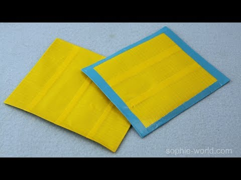 """How to Make """"No-Stick"""" Duct Tape Fabric 