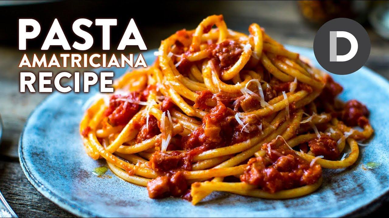 Ricetta Amatriciana Max.How To Make Pasta Amatriciana Youtube