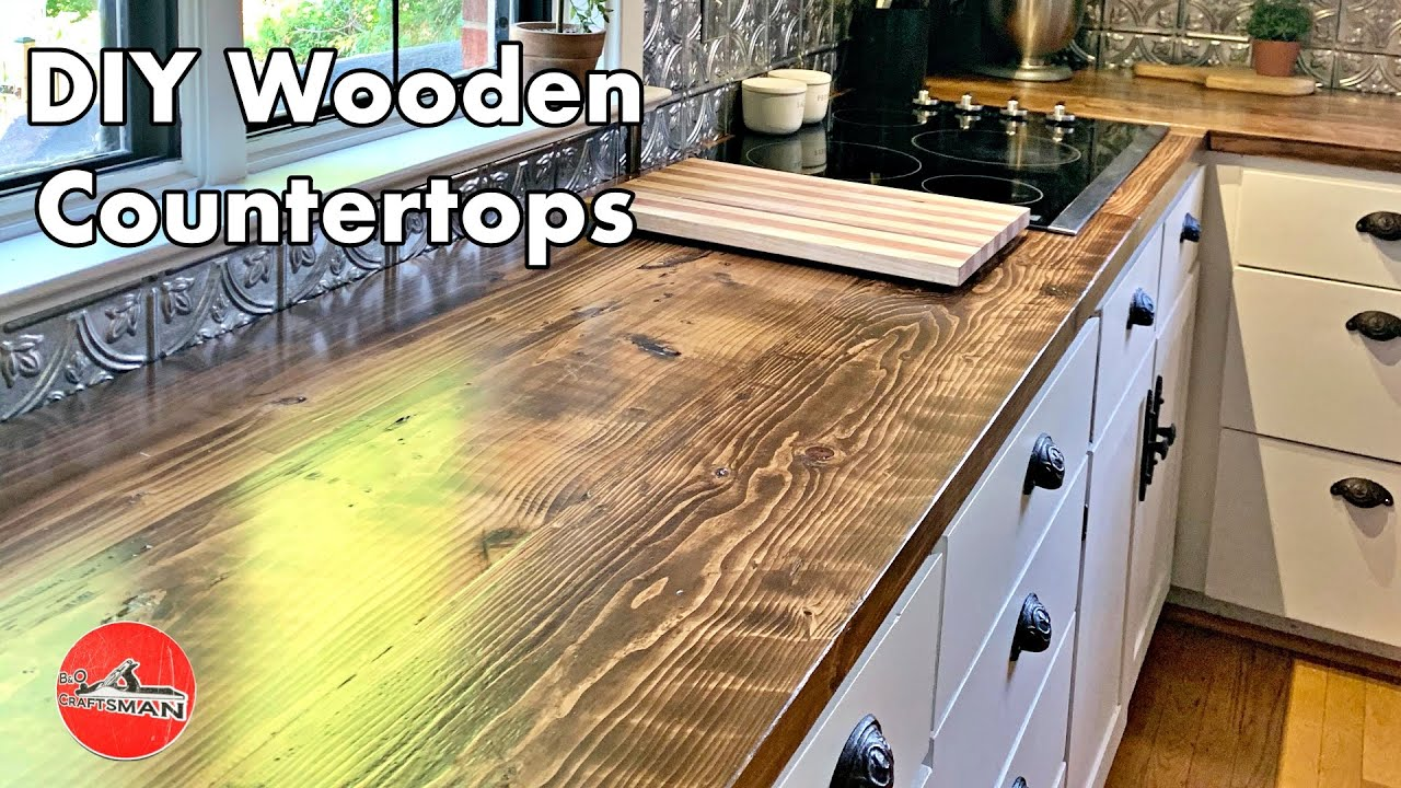 26 Diy Wood Countertops Ideas Plans Easy To Make Countertops
