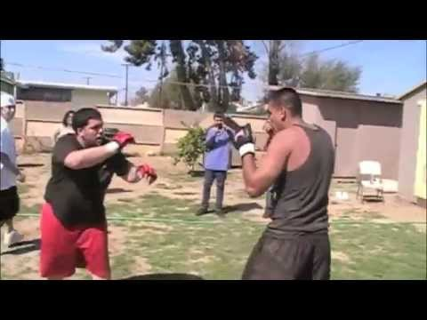 ralph vs roy backyard mma fighting youtube