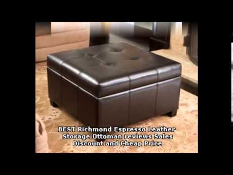 Best Richmond Espresso Leather Storage Ottoman Reviews S And Price You
