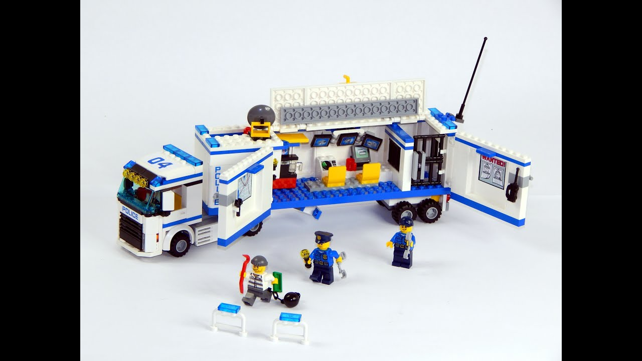 Lego City 60044 Mobile Police Unit Speed Build And Review