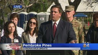 WEB EXTRA: Gov. Ron DeSantis Holds Press Conference From CB Smith Park