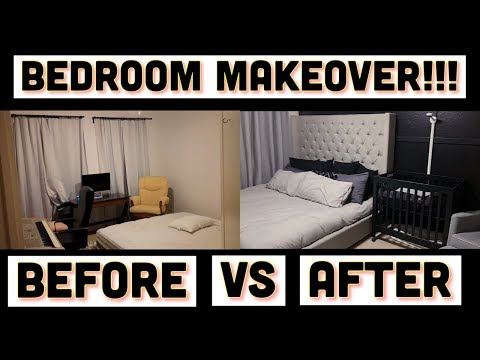 BEDROOM MAKEOVER!! | SHARING A ROOM WITH OUR BABY