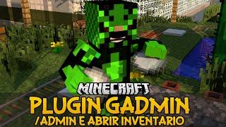 Plugin GAdmin - /admin e Abrir inventário Minecraft