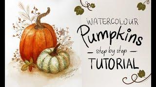 Watercolor Pumpkin Tutorial
