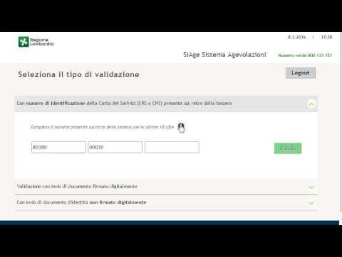 SiAge - Procedura di registrazione e validazione al servizio