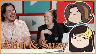 """Arin and Suzy react to """"couples cringe""""   Game Grumps on YouTubers React"""