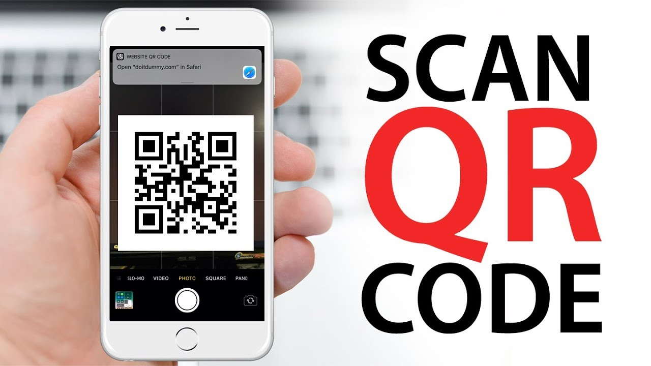 How to Scan QR Code (NO APPS) on iPhone, iPod, iPad - YouTube