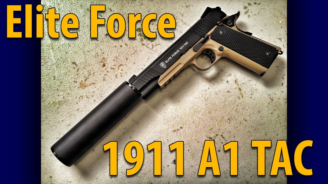 Elite Force 1911 A1 Tactical - A Killer CO2 Airsoft Pistol ... M1911 Suppressed