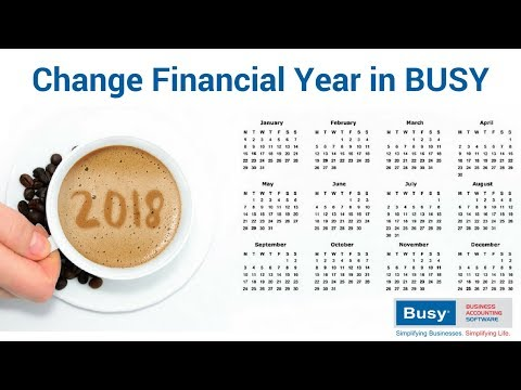 Change Financial Year in BUSY - Hindi