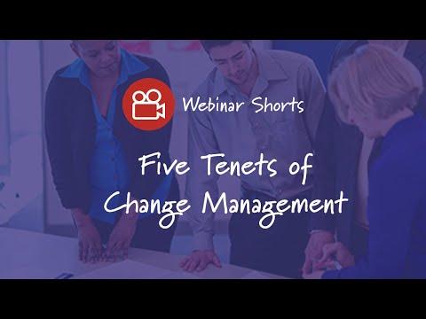 Five Tenets of Change Management - Prosci - Prosci