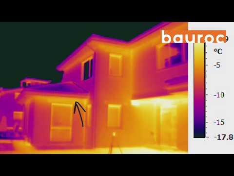 Māja no bauroc ECOTERM+ 500 bez siltināšanas termogrāfija, hermētiskuma tests