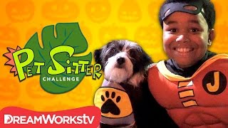 Doggy Dress Up Halloween Party | PET SITTER CHALLENGE