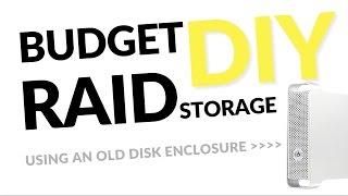 DIY SATA RAID Storage in an old HDD enclosure