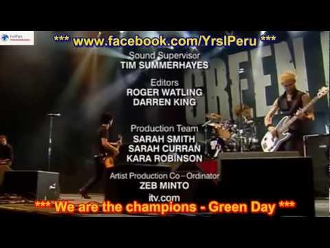 Green Day - We are the champions  SUBTITULADA EN ESPAÑOL Y EN INGLES  HD LYRICS SUB