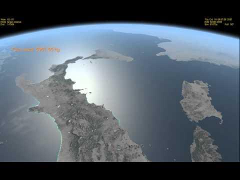 L'Italia vista dallo spazio da 400 Km di altezza con Orbiter : VIDEO