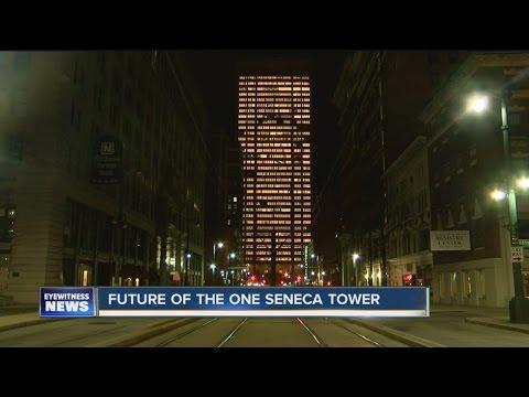 One Seneca Tower Lights Up Downtown Buffalo
