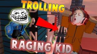 TROLLING RAGING KID VON ARRESTING HIM IN JAILBREAK 2?! (Roblox Jailbreak)