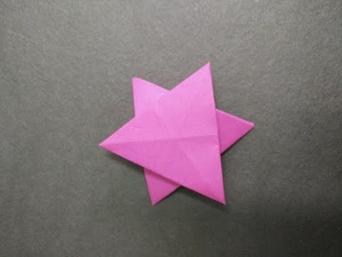 How to make a six pointed origami paper star   slow and easy