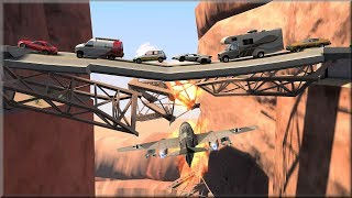 BeamNG Drive First Destructible Road Bridge - Insanegaz