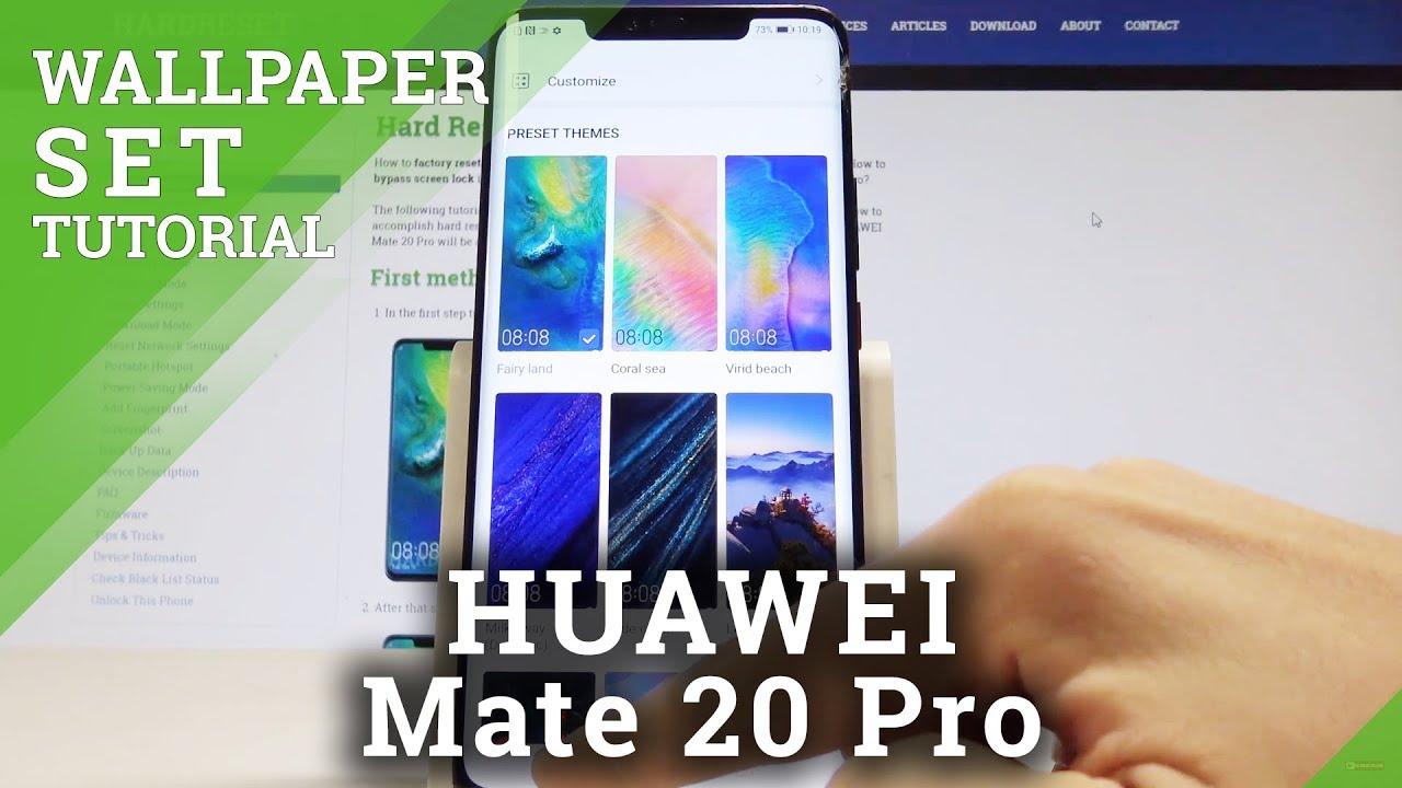 How To Change Wallpaper On Huawei Mate 20 Pro Set Up Home Screen