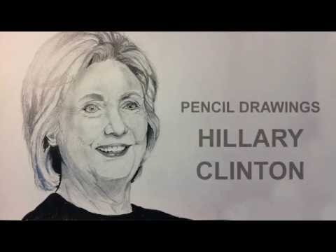Pencil Drawings: How to draw realistic Hillary Clinton Manga Style