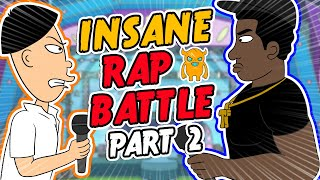 CRAZY ANIMATED RAP BATTLE (Part 2) - Ownage Pranks