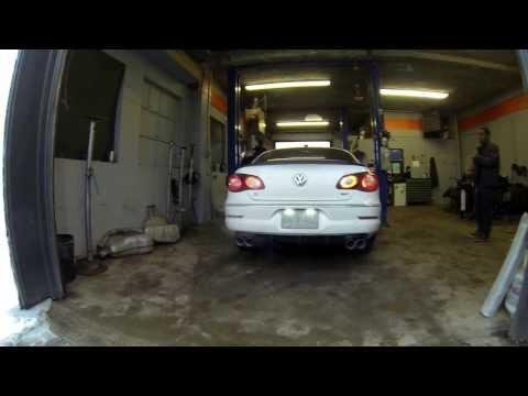 Vw cc 2.0t custom quad exhaust