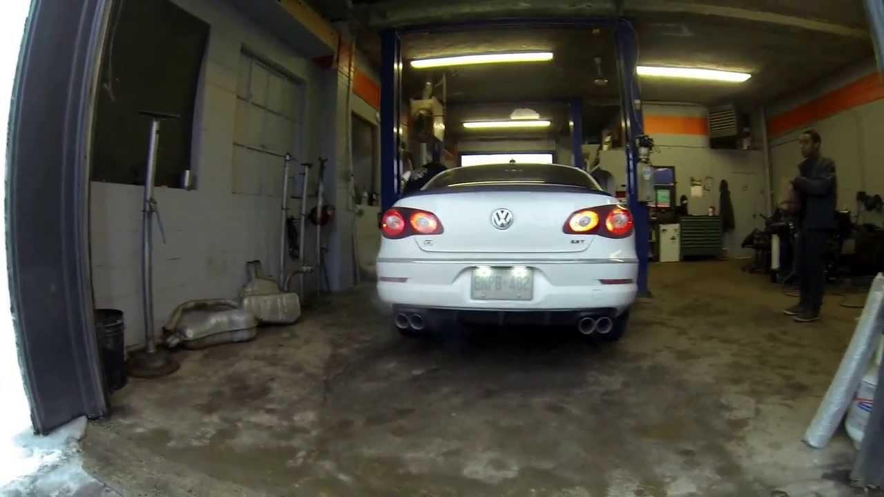 vw cc  custom quad exhaust youtube