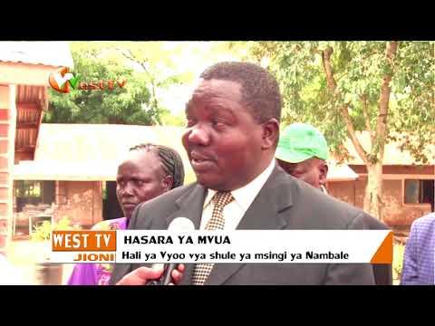 Vyoo vya shule ya msingi ya Nambale vyaporomoka