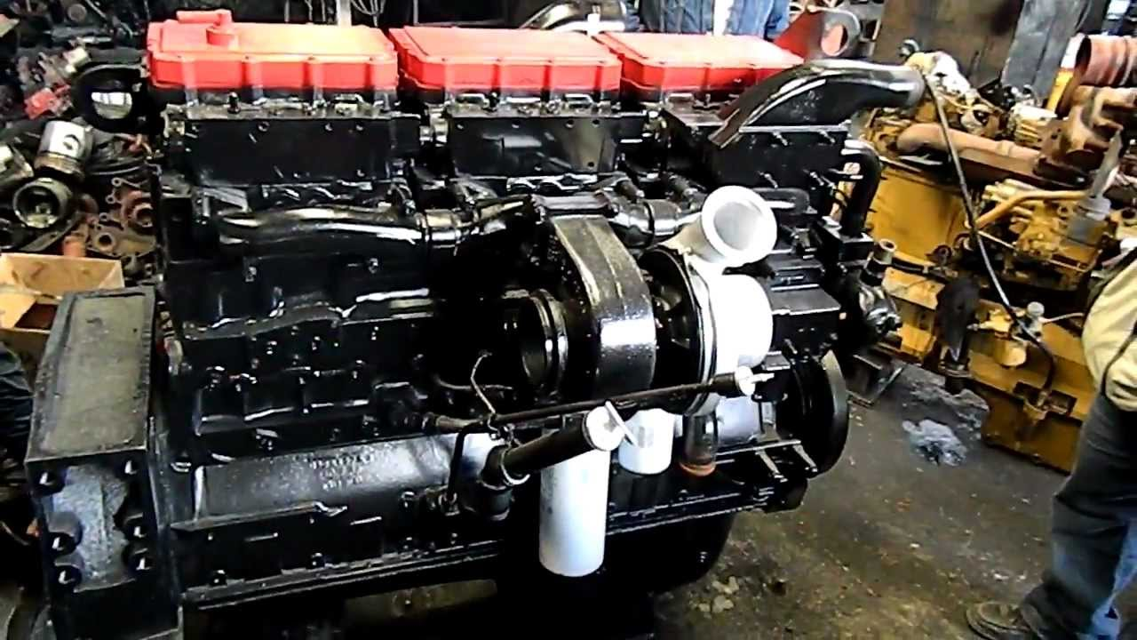 Motor Cummins N14 Plus 410 HP - YouTube