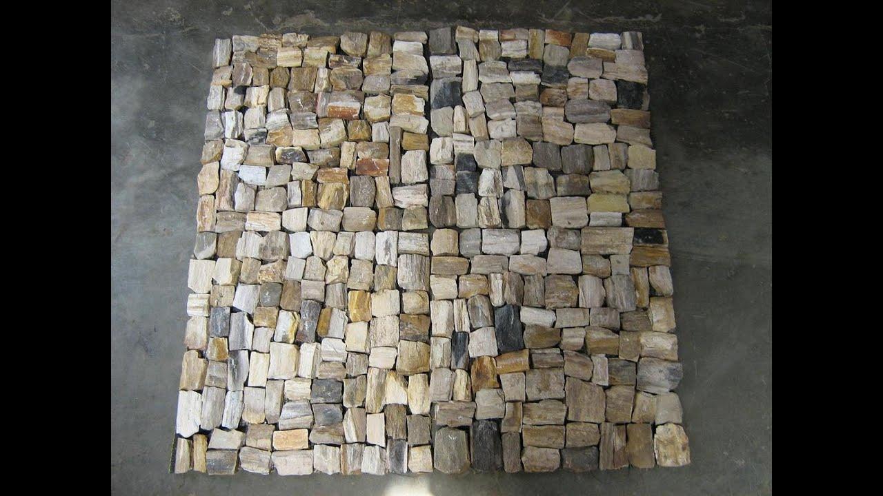 Petrified Wood Mosaic Flooring Youtube