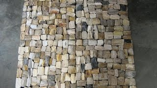 Petrified Wood Mosaic Flooring