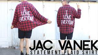 DIY: Jac Vanek | Statement Plaid Shirt! #ootd Thumbnail