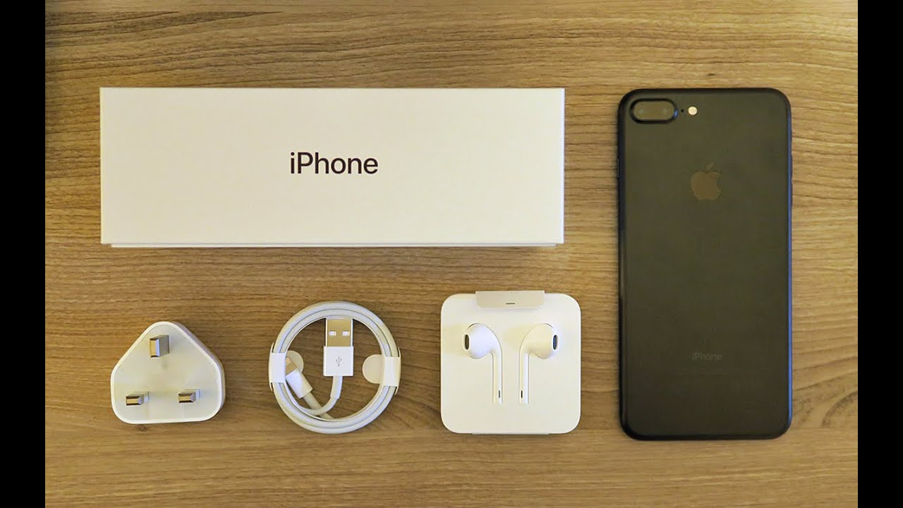 iphone 7 plus black unboxing. iphone 7 plus black unboxing p