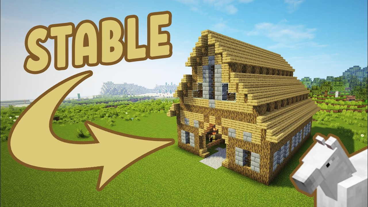 Minecraft: How To Make A Stable | Simple Barn Tutorial ...