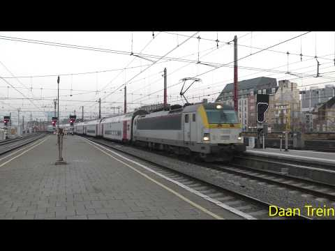 HLE 18 88 met M6 komt aan in Brussel Zuid