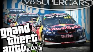 GTA 5: V8 Supercar Gold Coast Street Circuit!