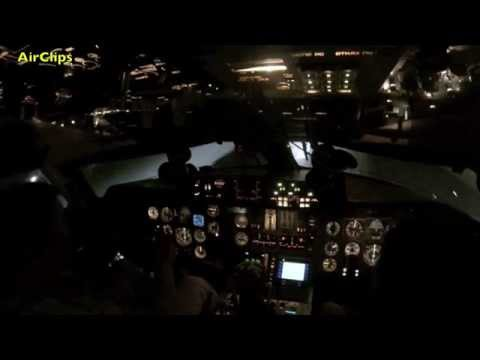 Antonov 225 Mriya COCKPIT NIGHT TAKEOFF from Leipzig by [AirClips]