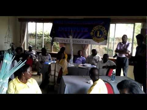 Lions Clubs Multiple District 411 Regional Leadership Institute Training 2012- Nairobi