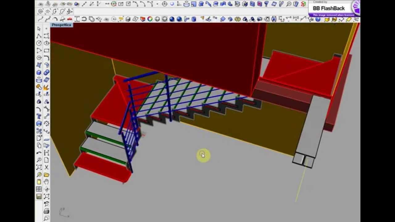 abbastanza Progettazione 3D scale per interni - YouTube PL07